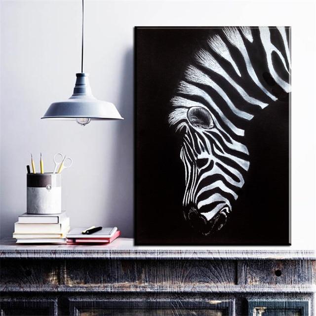 ZZ1648 schwarz und weiß leinwand Kunstdruck Zebra Leinwand ...