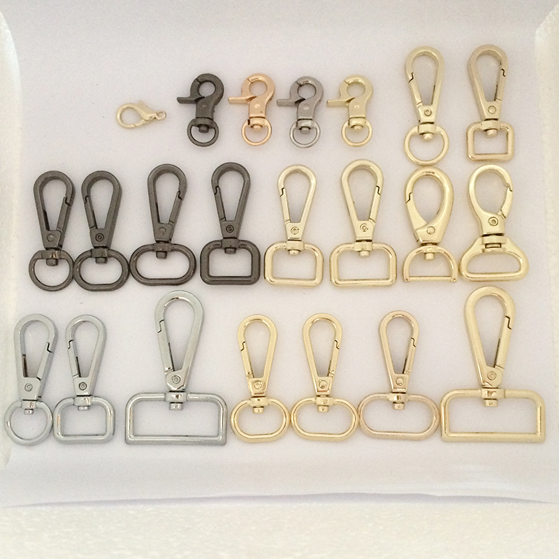 10 pcs a lot new Accessories women Bags Bags Hook Keychain 4 size for bag