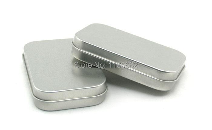 Hinge tin box Square timah perak timah hadiah kotak pengedap kotak timah biasa 80x50x15mm