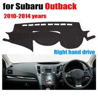 Auto armaturenbrett abdeckungen für Subaru Outback 2010 2014 jahre rechtslenker dashmat pad dash abdeckung auto armaturenbrett zubehör-in Auto-Anti-Schmutz-Pad aus Kraftfahrzeuge und Motorräder bei