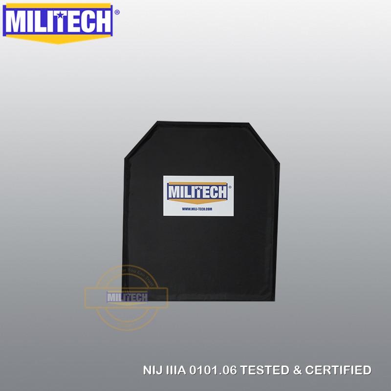 MILITECH 10x12 Shooters Cut NIJ 0101.06 IIIA 3A NIJ 0115.00 Level 2 Stab Resistant Bulletproof Plate Aramid Soft Ballistic Panel