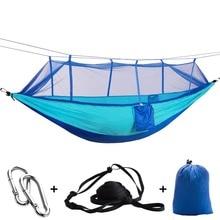 ยุงฟรีเปลญวนสุทธิ Ultralight กลางแจ้งแบบพกพาสำหรับ Travel Survival Camping Sleeping Hamak Bed Hamac