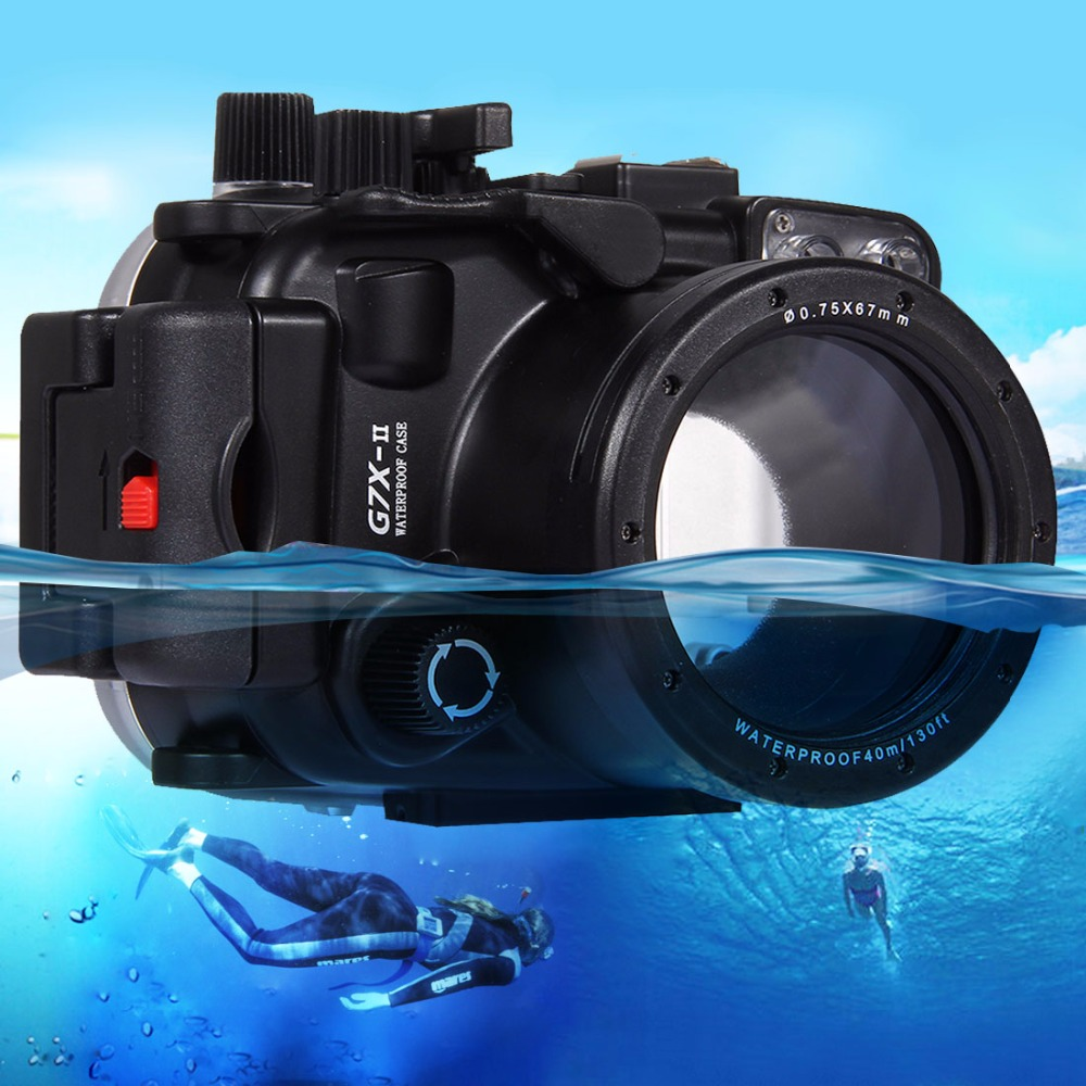 PULUZ for Canon G7 X Mark II Underwater 40m Depth Diving Case Waterproof Camera Housing компактный цифровой фотоаппарат canon g1 x mark ii