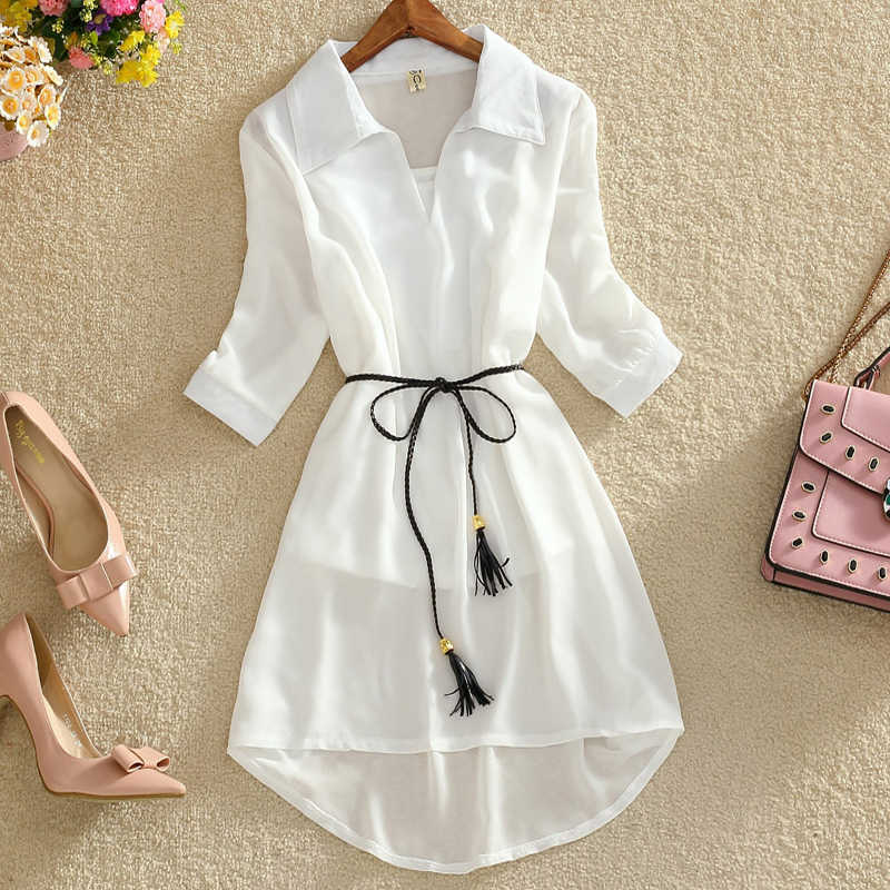 Summer sexy women dress with slim waist and hide meat Chiffon dress