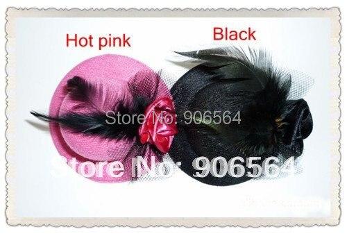 Мини-чародейные шляпы вечерние аксессуары для волос для свадьбы шляпы много цветов детские головные уборы Модные ручной работы 12 шт./партия