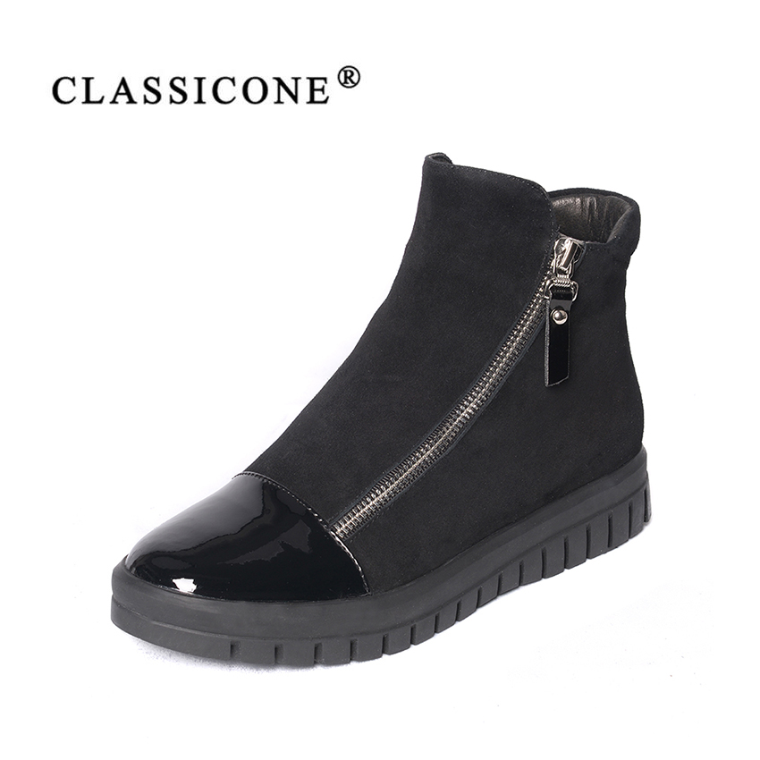 women shoes woman ankle boots spring autumn  flats with genuine leather black fashion brand zip decoration style sexy CLASSICONEwomen shoes woman ankle boots spring autumn  flats with genuine leather black fashion brand zip decoration style sexy CLASSICONE