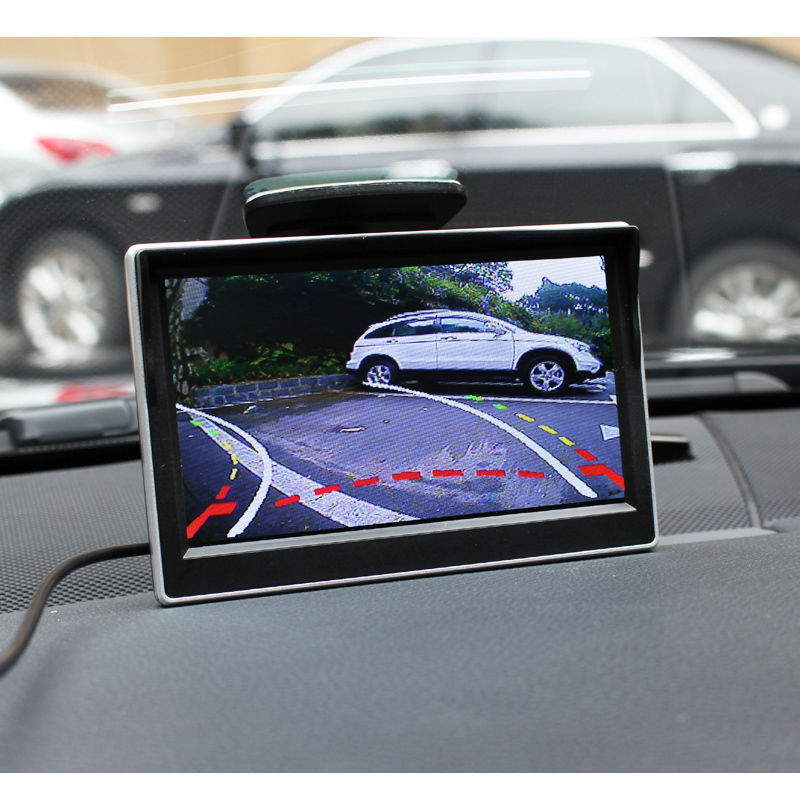 Backup camera with parking guide.