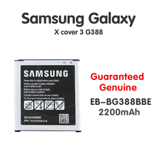 Original Samsung Battery For Samsung Galaxy X cover 3 NFC EB-BG388BBE G388 G388F G389F 2200mAh Phone Batteria Akku Fast shipping