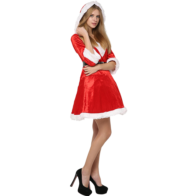 f93d7c8306b Christmas Costume Women Sassy Mrs Claus Costume Red Christmas ...