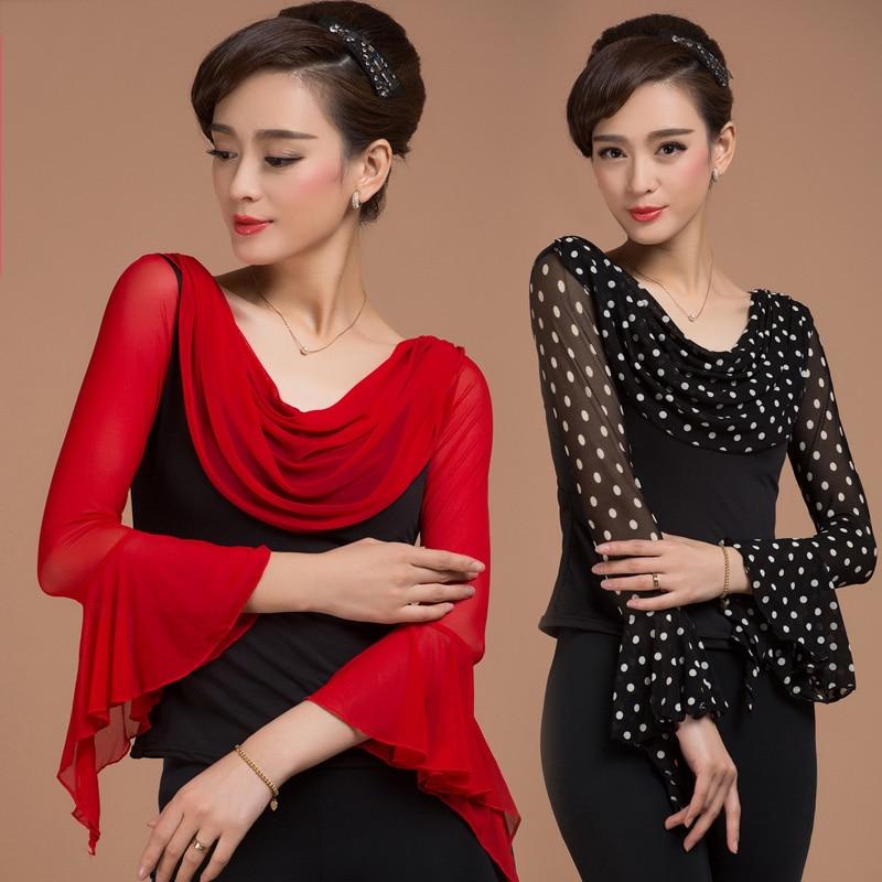 Latin Dance Tops Women Shirt Ballroom/Cha Cha/Samba/Tango/Latin Dance Costume Dance Clothing Enfeites Para Quarto JDQ6030