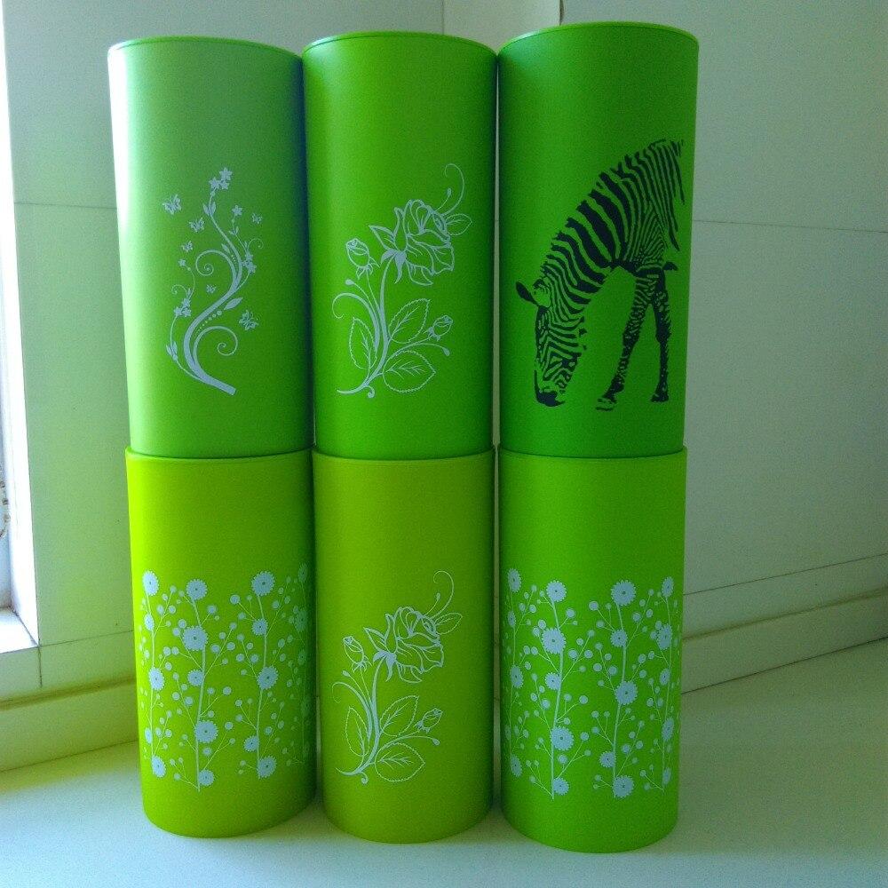 뜨거운 새로운 녹색 8 다기능 플라스틱 도구 홀더 나이프 블록 sooktops 튜브 선반 스탠드 나이프 주방 용품 저장