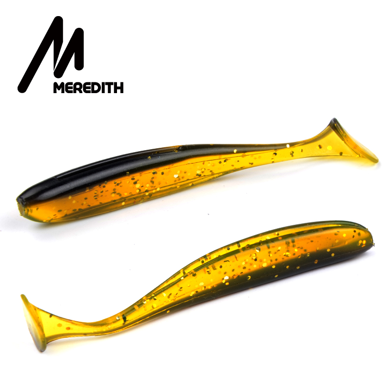 Meredith 75mm 2.4g 200pcs Wobblers Fishing Lures Easy Shiner Swimbaits Silicone Soft Bait Double Color Carp Artificial Soft Lure