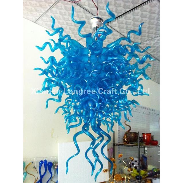Modern house lamp blue designer led light dale chihuly style hand modern house lamp blue designer led light dale chihuly style hand blown glass art chandelier light aloadofball Images