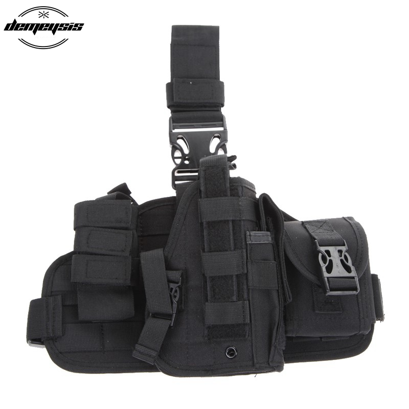 Very very Duable Tactical Pistol Gun Drop Leg Thigh Holster + Magazine Pouch for Glock 17 19 23 32 36