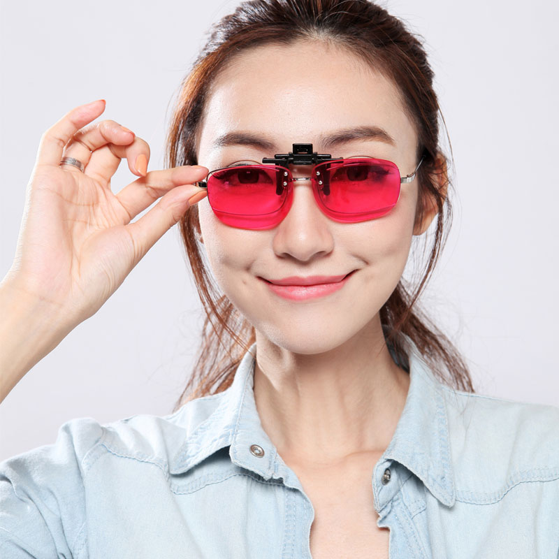 Men Carter Color Blind Clip On Eyeglasses Red Green
