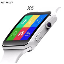 Bluetooth Smartwatch X6 Sport Smart Watch for Apple Android Phone with Camera Wearable Devices Support SIM card 2017 Newest