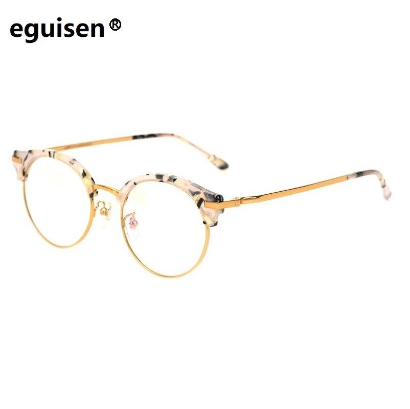 Largeur 138 tendance générale des hommes femmes rétro alliage plaque plein cadre myopie plaine lunettes cadre bleu lune M lunettes