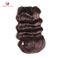 Golden Beauty 12inch 120g Hair Weaves Synthetic Body Wavy Weft Sew In Hair Extnesions