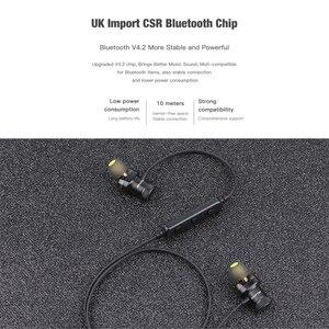 Image 5 - AWEI Bluetooth наушники, беспроводные наушники, стерео, спортивные, в ухо, проводные наушники, гарнитура с микрофоном для iPhone Xiaomi, наушники