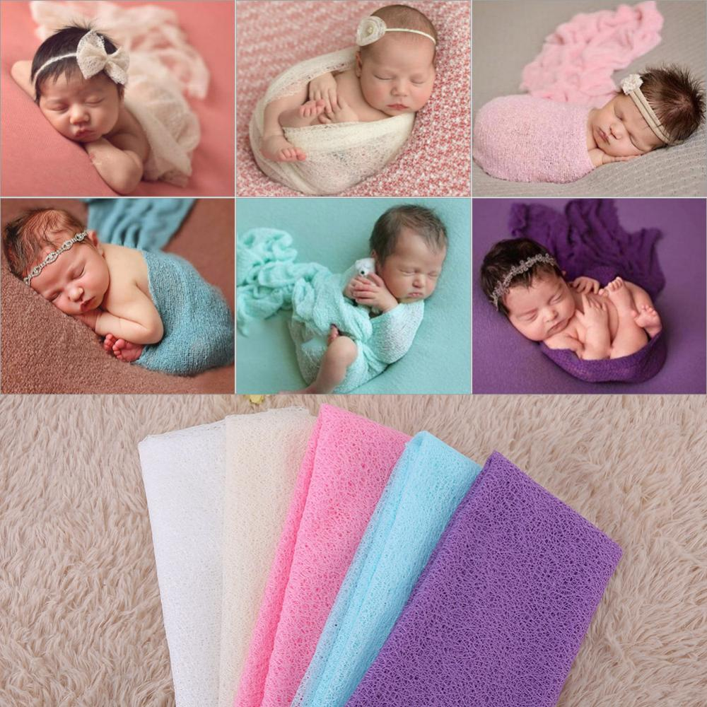 1Pc Newborn Infant Toddler Baby Photography Photo Props Soft Yarn Wrap Swaddle Blanket Hot High Quality Baby Carrier Front Style