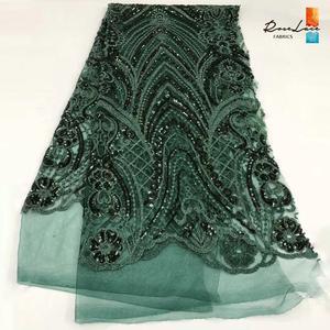 Image 5 - Bourgogne Kim Sa Lưới Vải Ren Màu Rượu Vang Châu Phi Nữ Giới Nigeria Váy áo May Chất Liệu Cổ Điển Thiết Kế Lưới Vải