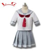 L G Japoński Anime Miłość Żywo Sunshine Cosplay Costume Takami Chika Dziewczyny Szkoła Mundury Mundury Marynarskie Miłość Żywo Aqours