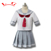 Japanese Anime Love Live Sunshine Cosplay Costume Takami Chika Girls Sailor Uniforms Love Live Aqours School