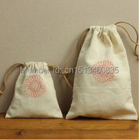 100pcs/lot CBRL jute/linen/flax drawstring bags&pouch for accessories/Iphone 5,Various colors,size customized,wholesale