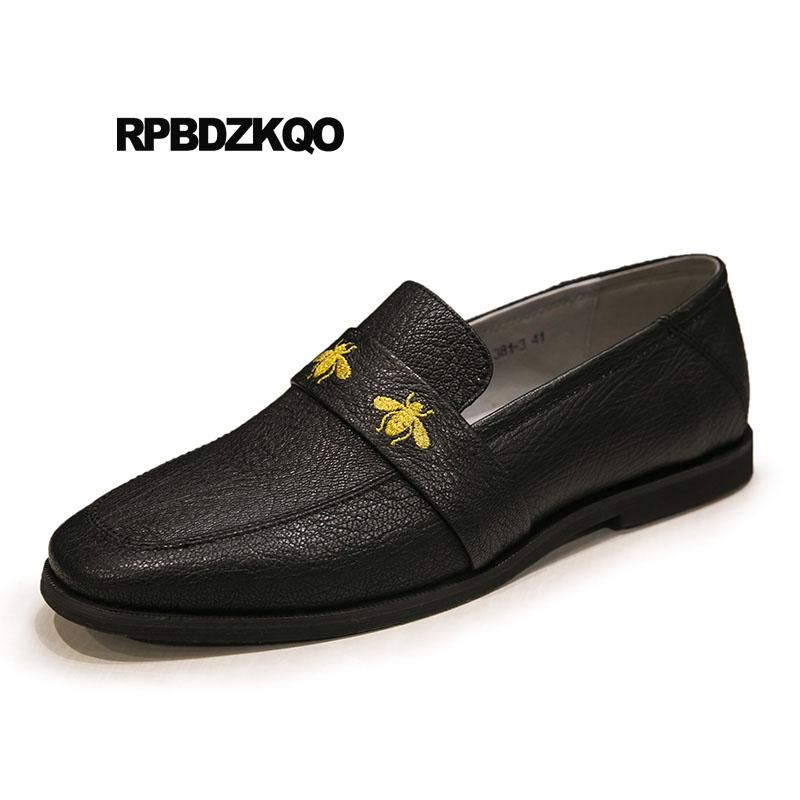 Italy Tassel Plus Size Genuine Leather Dress Italian Loafers Boat Shoes Men 11 Brand Wedding Prom European Black Cow Skin Real Formal Shoes