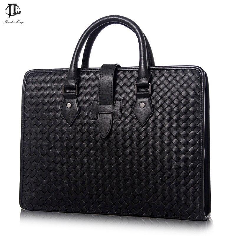 100% Genuine Leather Men's Briefcase Luxury Handbag High Quality Leather Bag Messenger Bag for Gentlemen