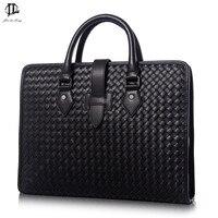 Men Messenger Bags 100 Genuine Leather Bag Luxury Designer Handbag High Quality Famous Brand Briefcase New