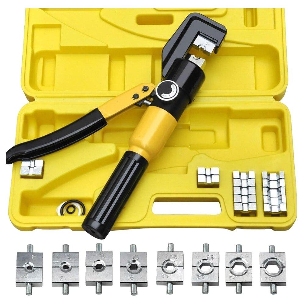 Outil de sertissage de sertisseuse hydraulique manuelle 4-70mm 8 T robusteOutil de sertissage de sertisseuse hydraulique manuelle 4-70mm 8 T robuste