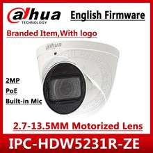 Dahua IPC HDW5231R ZE 2MP WDR IR Eyeball 2.7mm ~13.5mm varifocal motorized built in MIC Network Camera replace IPC HDW5831R ZE