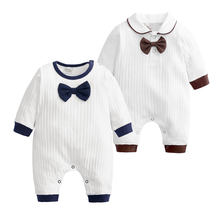 [0-24 Months] 100%Cotton Baby Boy Romper Spring Autumn Newborn Baby Girl Clothes Long Sleeve Toddler Romper Infant Onesies(China)