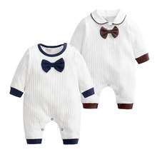 [3-18 Months] Solid Color Baby Rompers 100%Cotton Long Sleeve  Newborn Clothes Spring Autumn Infant Costume Boys Outfits