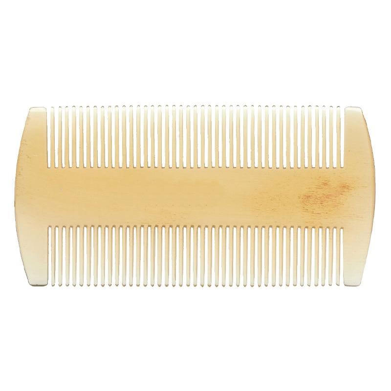Natural Genuine HQ oaie corn pieptene anti-statice anti-mătreață dublu rând dentă densă pieptene de sănătate masaj cap de pieptene pieptene de buzunar