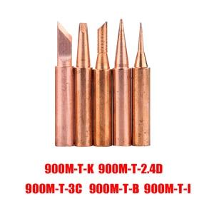 Image 2 - 5pcs/lot Pure Copper 900M T Soldering Iron Tip Lead free Solder Tips Welding Head BGA Soldering Tools