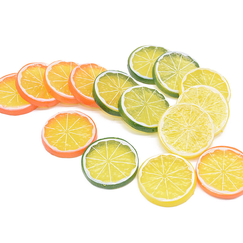 5/10pcs Artificial Fruit Simulation Polyfoam Lemon Slices Ornament Wedding Festival Party Home Kitchen Fake Fruit Lemon Decor 7z