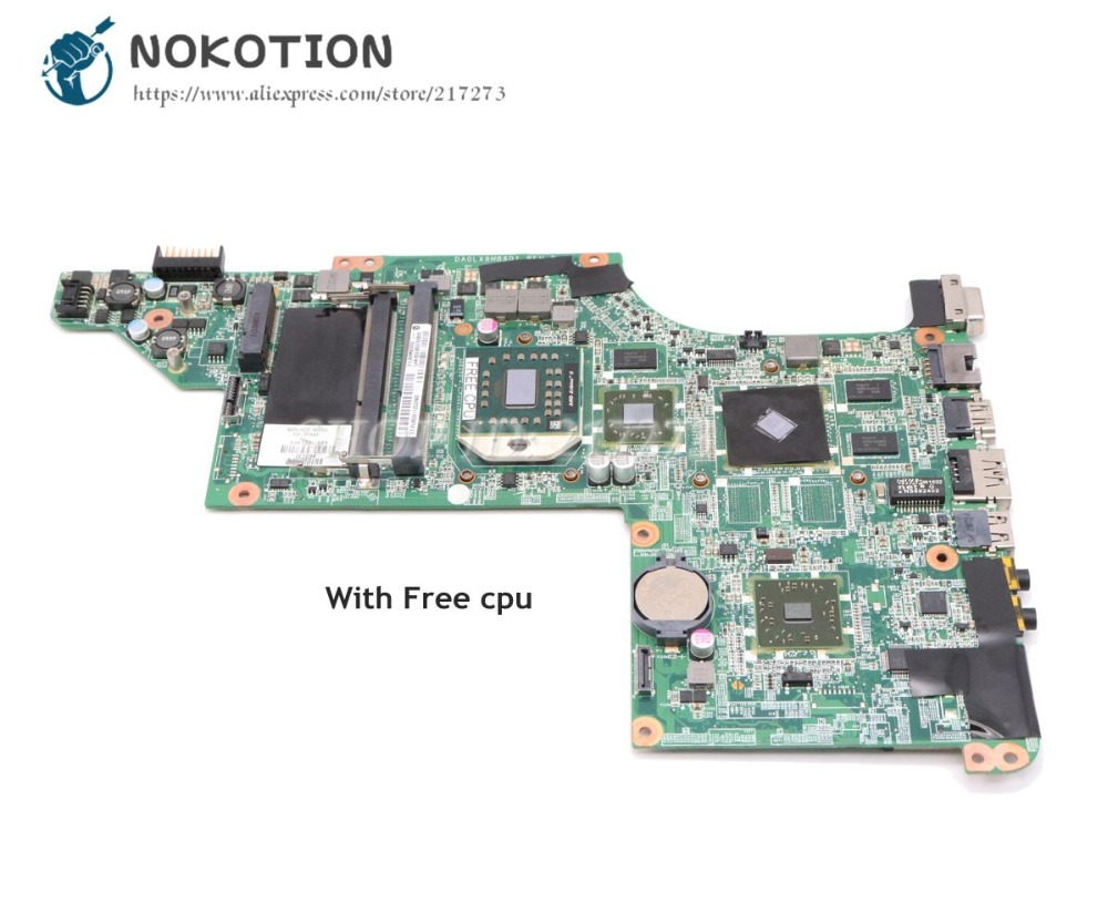 NOKOTION 595133-001 For HP Pavilion DV6-3000 Laptop Motherboard DA0LX8MB6D1 Main Board HD5470M DDR3 Free CPU 595133 001 fit for hp pavilion dv6 3000 laptop motherboard dv6z 3000 notebook hd5470 fast shipping