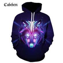 Novelty 3D cool fox print pullover 3D animated cartoon print hoodie fashion popular men's hoodie new fall 2019 men's pullover trees sunset 3d print pullover hoodie