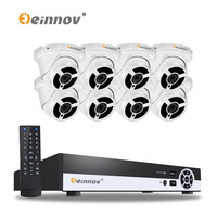 EINNOV 4CH 1080P POE Real NVR Kit 1080P HD Waterproof IP66 2 0MP POE IP Camera