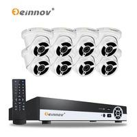 EINNOV 4CH 1080P POE Real NVR Kit 1080P HD Waterproof IP66 2 0MP POE IP Camera