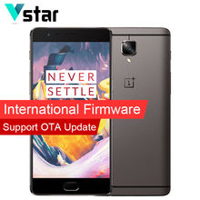 Internationalen firmware original 5,5 zoll oneplus 3 t a3010 dual 16.0mp Snapdragon 821 Quad Core 64 GB Sauerstoff OS 6 GB RAM Dual SIM