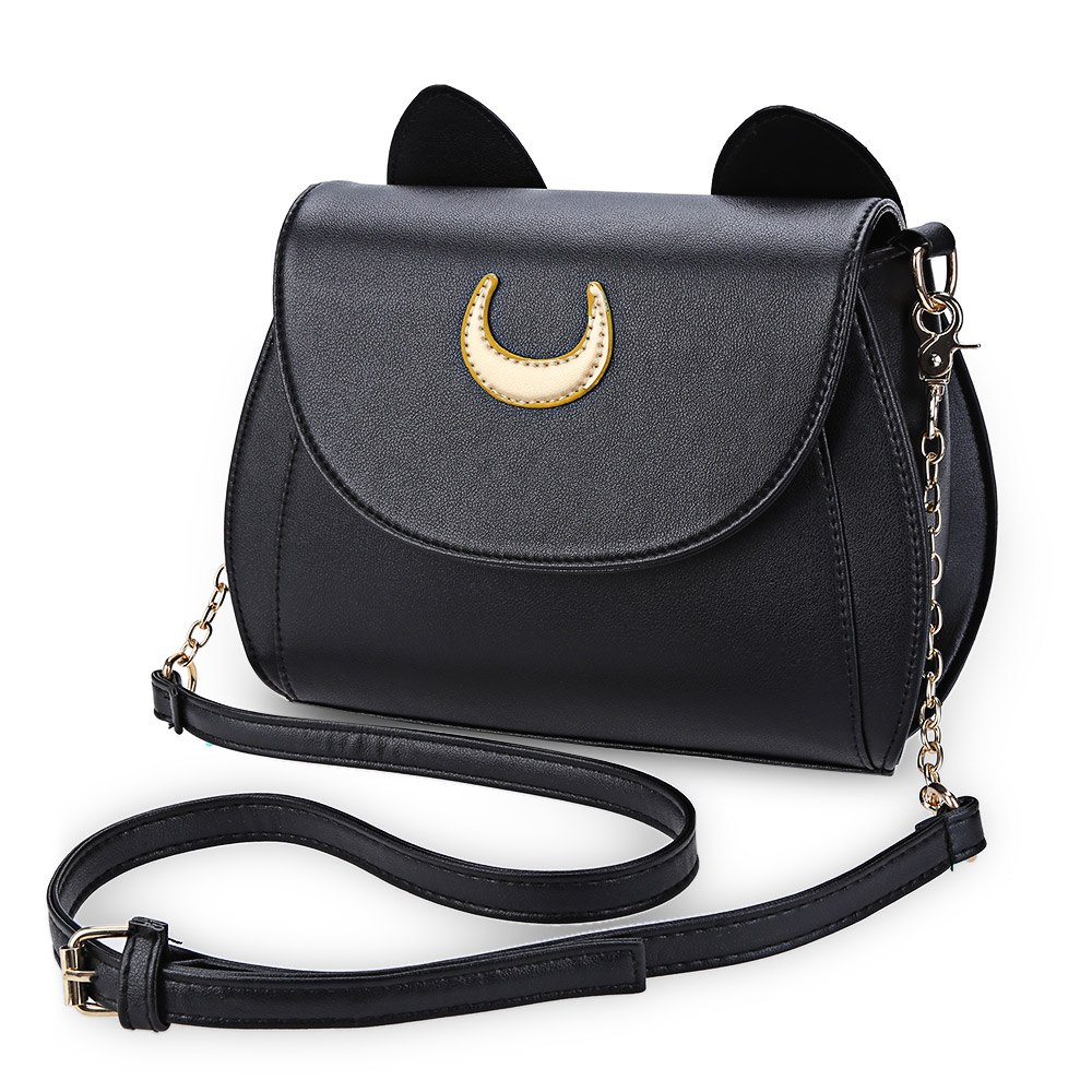 Kawaii Summer Sailor Moon Ladies Handbag Black Luna Cat Shape Chain font b Shoulder b font