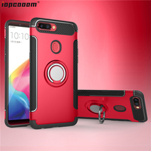 For OPPO R11 R11S Case TPU+PC shockproof With finger ring Holder Phone Back Cover For OPPO R11 R11S Plus coque keklle oppo r11 все включено матовое силикон выдерживает падение мягкой оболочки защитный рукав для мужчин и женщин бирюзовый синий 5 5 дюйма