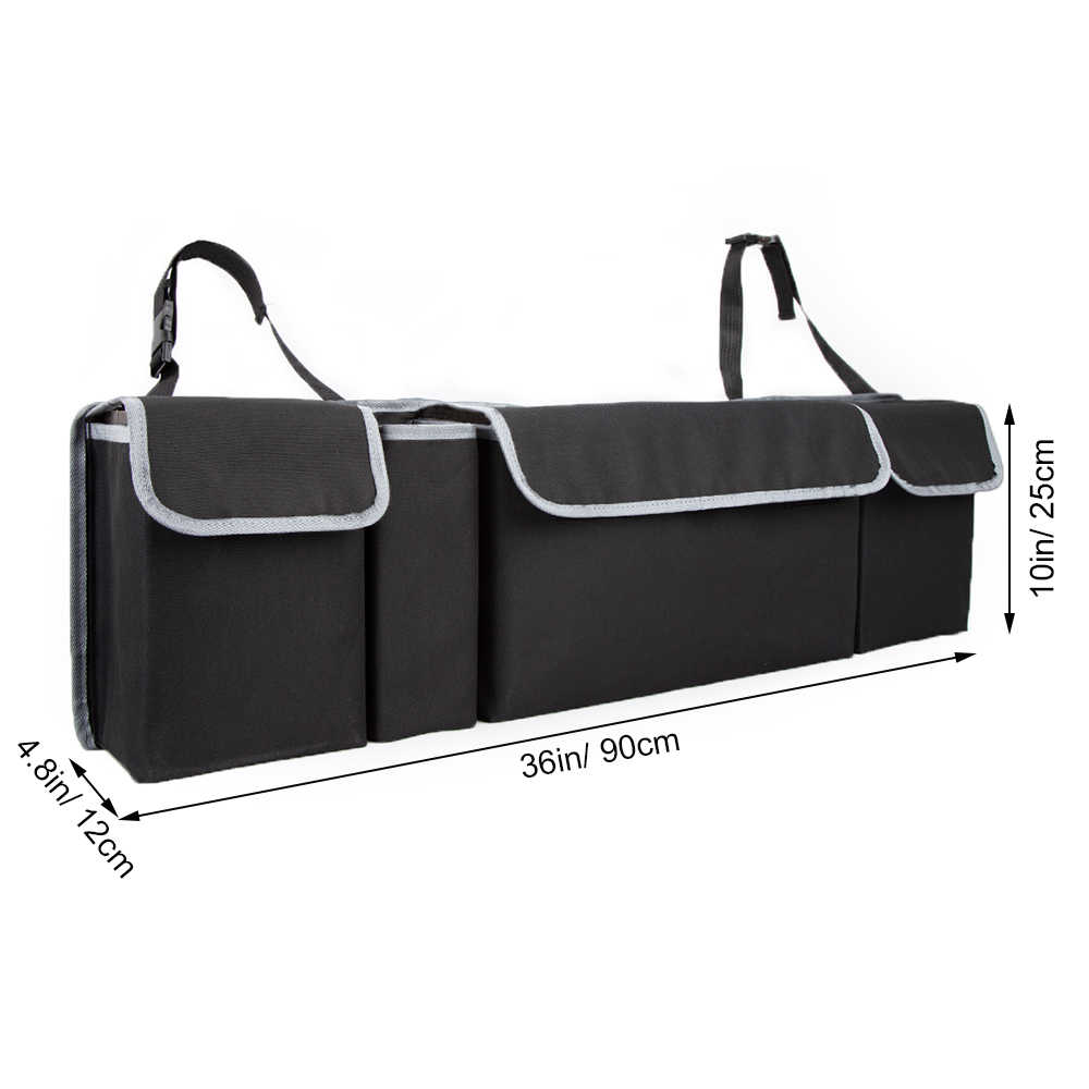 Car Trunk Organizer Adjustable Backseat Storage Bag High Capacity Multi-use Oxford Automobile Seat Back Organizers CTOB02
