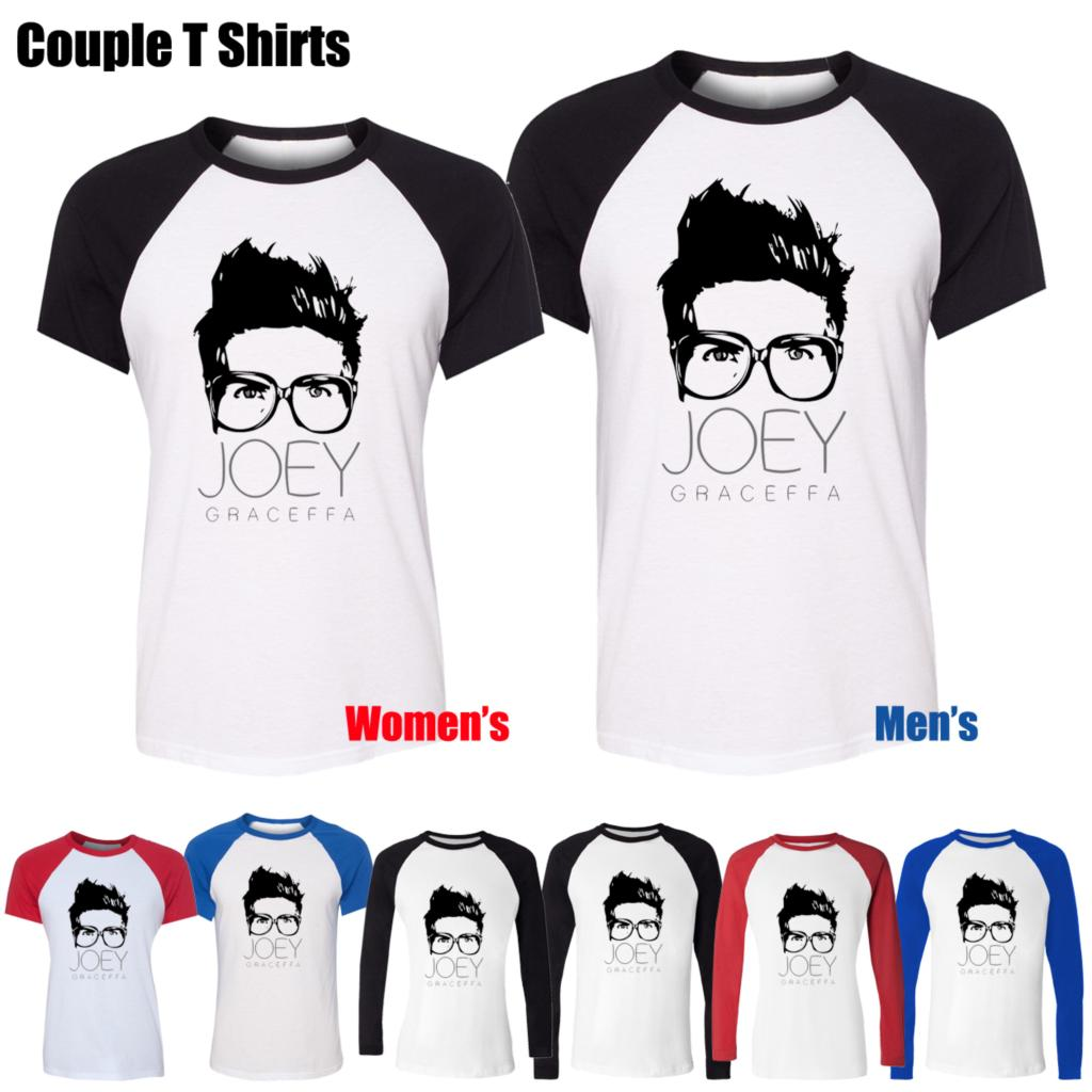 Funny youtube celebrity joey graceffa design printed t Girl t shirts design