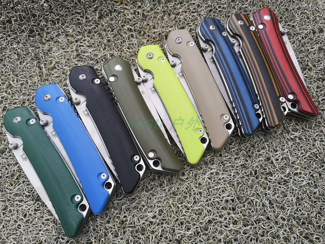 01 folding knife High quality Pocket knives Tactical survival tool folder blade G10 handle D2 STONE WASH steel EDC Collection in Knives from Tools