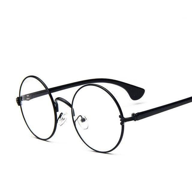 2018 nuevo Retro metal gafas marco mujeres hombres redonda grande ...