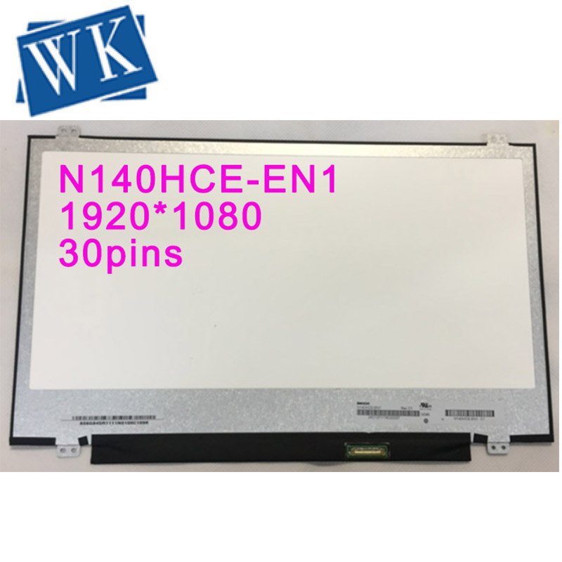 14'' LED LCD Screen Display Panel Matrix Exact Model N140HCE-EN1 Rev C2  IPS 72%NTSC FHD